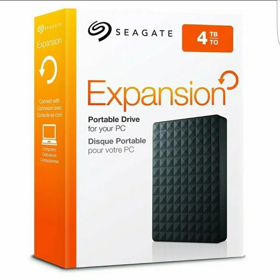 Hd Seagate Externo Portátil Expansion Usb 3.0 4tb Preto