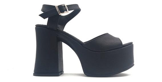 Sandalia Zapato Dama Mujer Fiesta Faja Plataforma Taco 4045