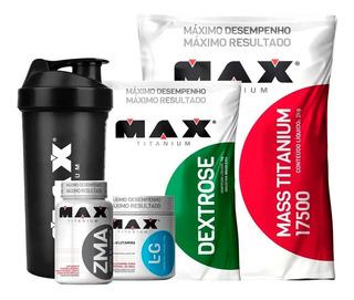 Combo Hipercalórico 3kg + Glutamina 150gr + Zma + Coquetelei