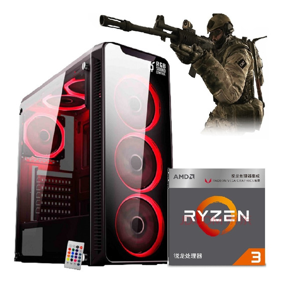 Pc Gamer Ryzen3 3200g Vega 8+ 2 8gb Ram+ssd 240gb + 400w