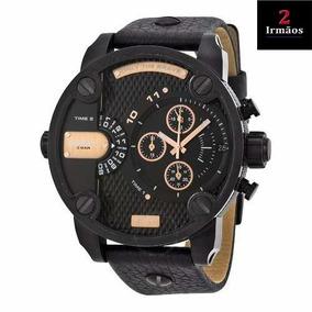 Relógio Diesel Empresário Masculino De Couro Dz7291/0pn