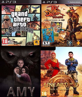 Grand Theft Auto San Andreas + 5 Juegos Ps3 Digital Español