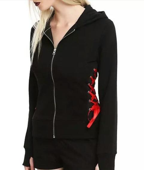 Campera Sweater Te121 Trenzado Goth Gotico