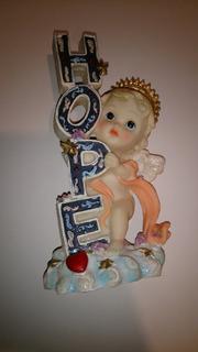 Figura Decorativa De Resina Angel De La Esperanza