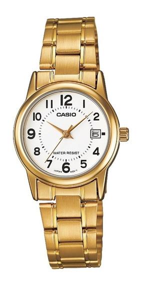 Relógio Analógico Feminino Casio Ltp-v002g-7budf