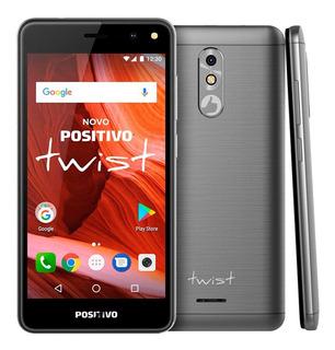 Smartphone Twist S511 Positivo Cinza Novo