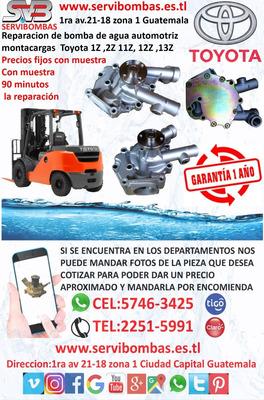 Reparación De Bombas De Agua Automotrices Toyota Montacargas