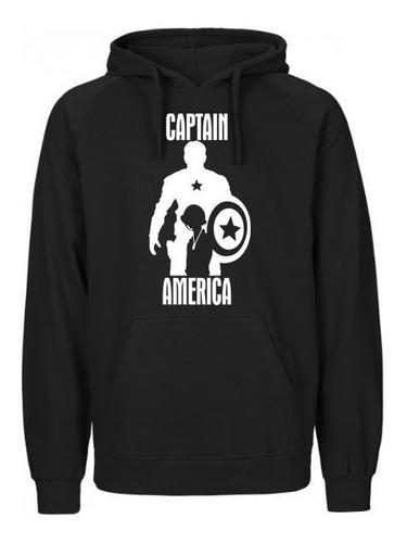 Imagen 1 de 1 de Sudadera Capitán América Marvel Heroes Hoodie Hombre Mujer