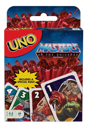 Imagem 1 de 6 de Jogo De Cartas Mattel Uno Defensores Do Universo He Man