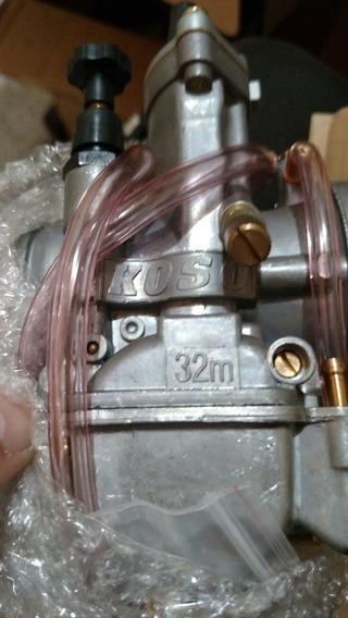 Carburador Koso 28 30 32 E 34 Mm Competição Com Power Jet