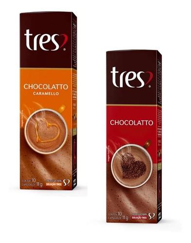 Kit Com 1 Chocolatto & 1 Chocolatto Caramello 3corações