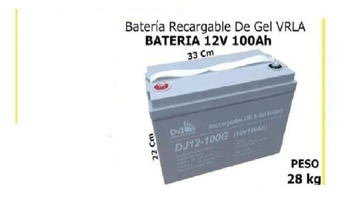 Imagen 1 de 2 de Bateria Recargable De Gel Vrla 12v 100ah