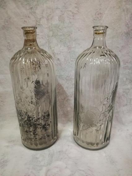 Botellón Antiguo Grande De Vidrio.