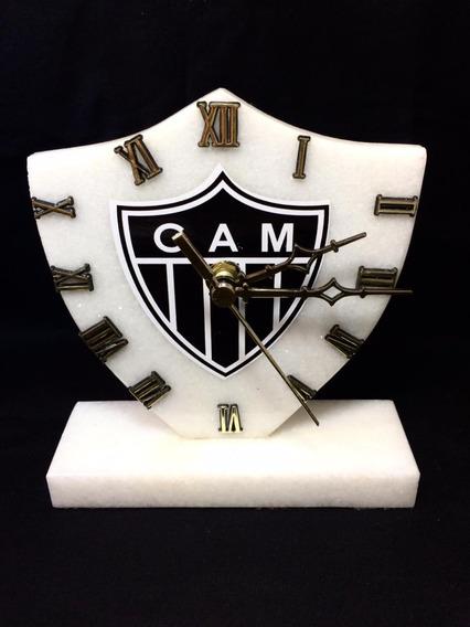 Relógio De Pedra Do Atlético Mineiro Galo De Mármore Branco!