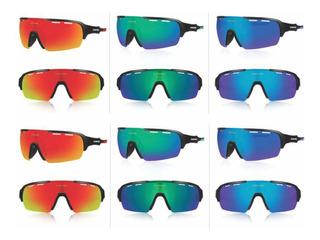 Óculos De Sol Esportivo - Bike Corrida - 4 Lentes Queshark