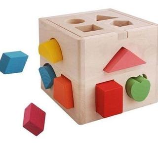 Cubo De Madera Didáctico