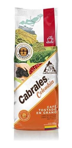 Imagen 1 de 7 de Cafe Grano Cabrales Colombia 1kg Tostado
