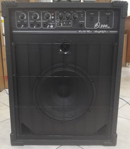 Caixa De Som Amplificada Ll200 Usb 50watts Seminova!