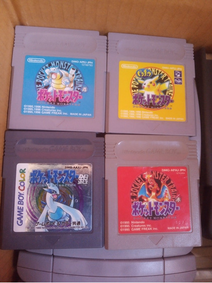 Lote Jogos Pokemon Game Boy, Frete 15 Reais
