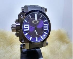 Relógio Masculino Pulso Oakley Azul Promoção Pronta Entrega