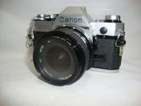 Antiga Camera Fotografica Canon Ae-1 Lente Macro 28mm