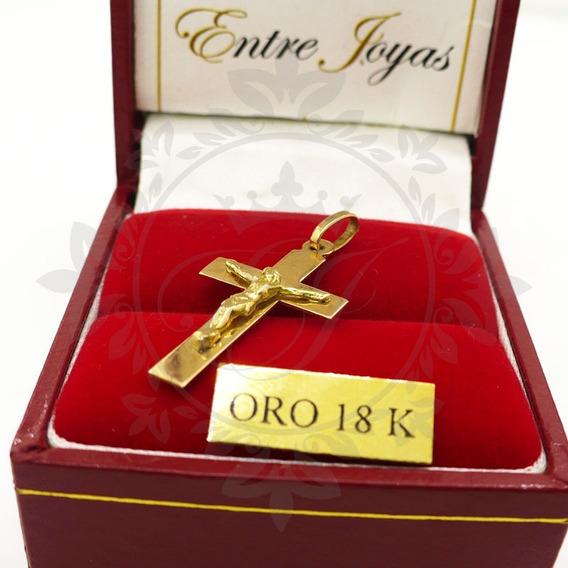 Medalla Oro, Cruz Oro, Cruces Oro Cristo En Relieve 0.8 Grs