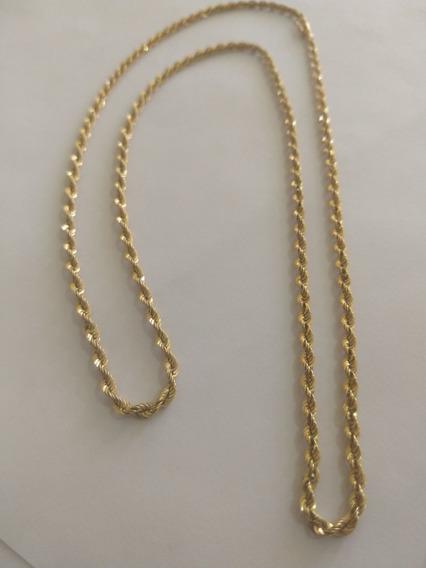 Cordão Masculino Ouro18k Modelo Baiano Frete Grátis