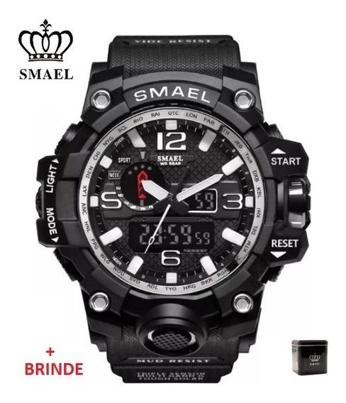 Relógio Esportivo G.chock Smael Mod1545 Black Militar Tático