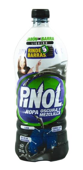 Detergente Líquido Pinol Ropa Oscura Y Mezclilla 1 Lt