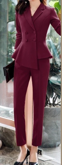 Conjunto Traje De Mujer Chaqueta Pantalon O Falda