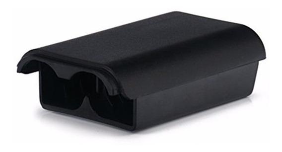 02 Tampas Porta Pilhas Para Manete Controle Xbox 360 Preto
