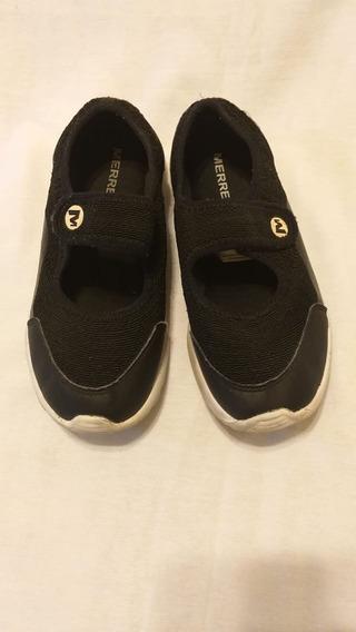 Zapatilla Color Negra Marca Merrell N°37 De Mujer