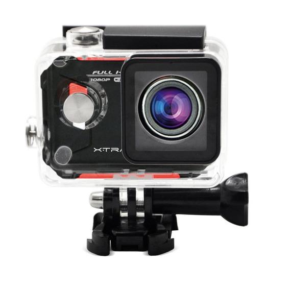 Câmera E Filmadora Xtrax Evo Preta/vermelha 12mp, Lcd 1.5