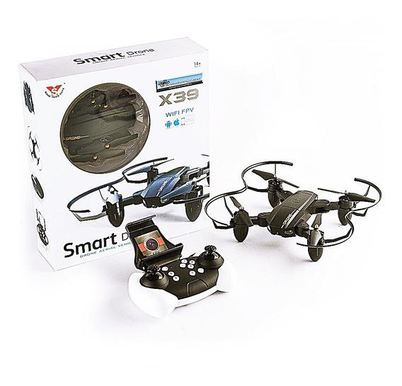 Drone Zangão Dobrável Wifi Sensor De Gravidade Câmera X39c