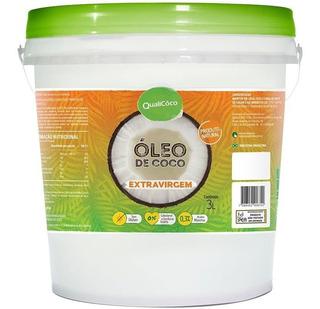Óleo De Coco Extra Virgem Qualicoco - 3 Litros