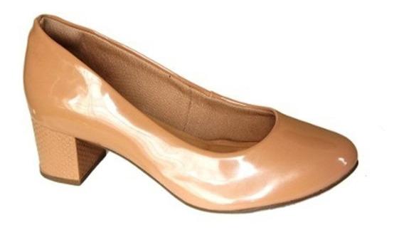 Sapato Scarpin Crysalis Salto 4 Cm Grosso - 51505532 Bege