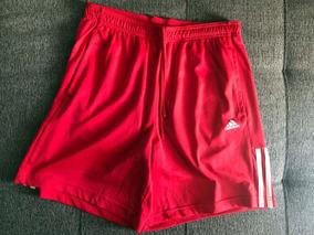 Bermuda Short adidas Base 3s Knit Vermelho Tamanho M Ay4440