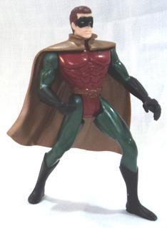 Muñeco Robin Capa Goma Dorada Tm Dc Comics 1995 12 Cm