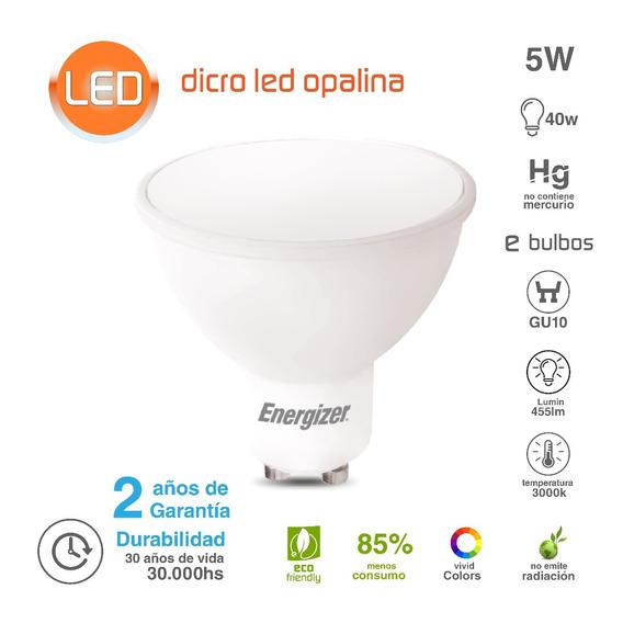 Lampara Dicroica Energizer Led 5w Luz Calida Opalina Oferta