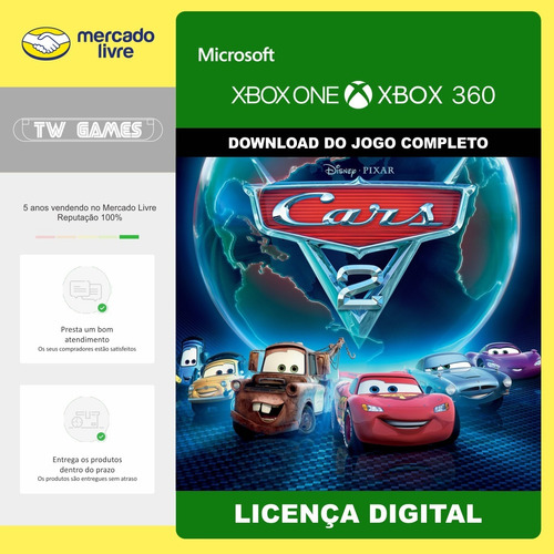 Carros 2 O Jogo Digital Retrocompativel Xbox One 360
