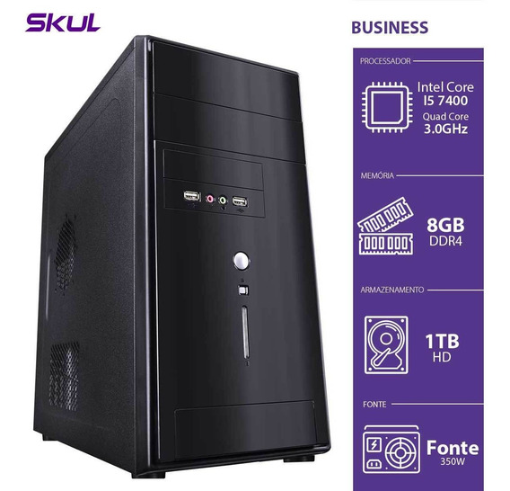Computador Business B500 - I5-7400 3.0ghz 8gb Ddr4 Hd 1 Tb H