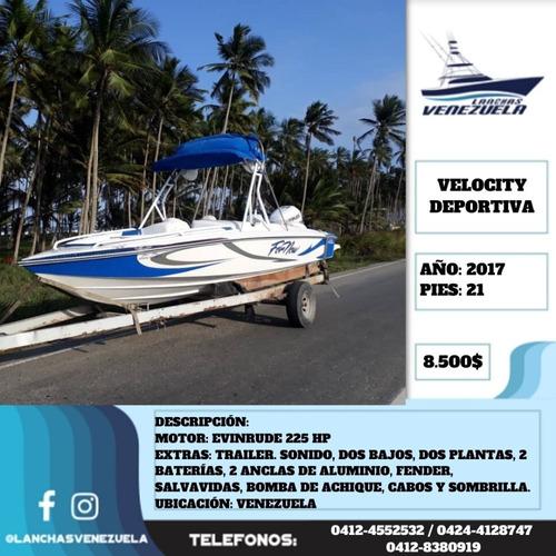 Lancha Deportiva Velocity 21 Lv558