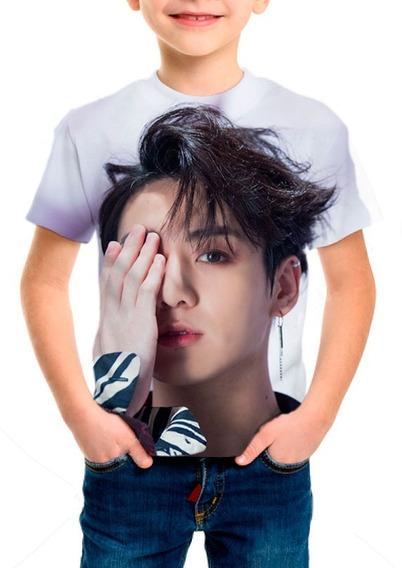 Camiseta Infantil Bts (bangtan Boys) Jungkook Fake Love M01