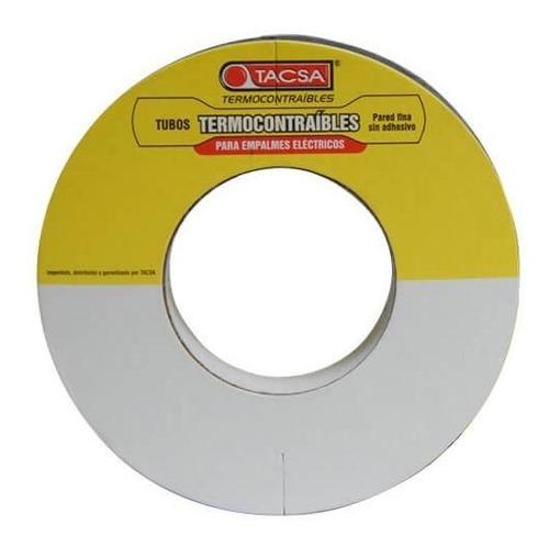 Tubo Termocontraible Tacsa 3,2mm Bobina 10mts