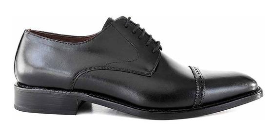 Zapato Hombre Cuero Briganti Acordonado Clásico Hcac00793