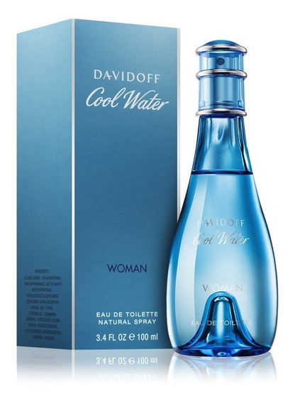 Perfume Cool Water Para Mujer De Davidoff Edt 100ml Original