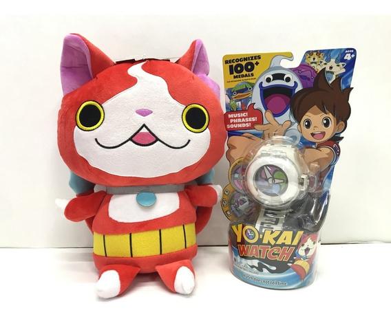 Reloj Yokai Yo Kai Watch Hasbro Medallas Y Peluche Jibanyan