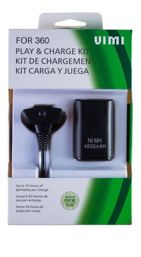 Kit Carga Y Juega Para Control Xbox 360 Cable Y Pila Mayoreo