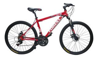 Bicicleta Mountain Bike Rodado 26 Aluminio Shimano Cambios Frenos Disco Suspension Llanta Doble Varon Mujer Happy Buy !
