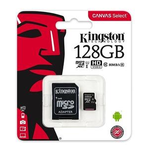 Memoria Micro Sd 128gb Kingston Clase 10 80mb Canvas Select